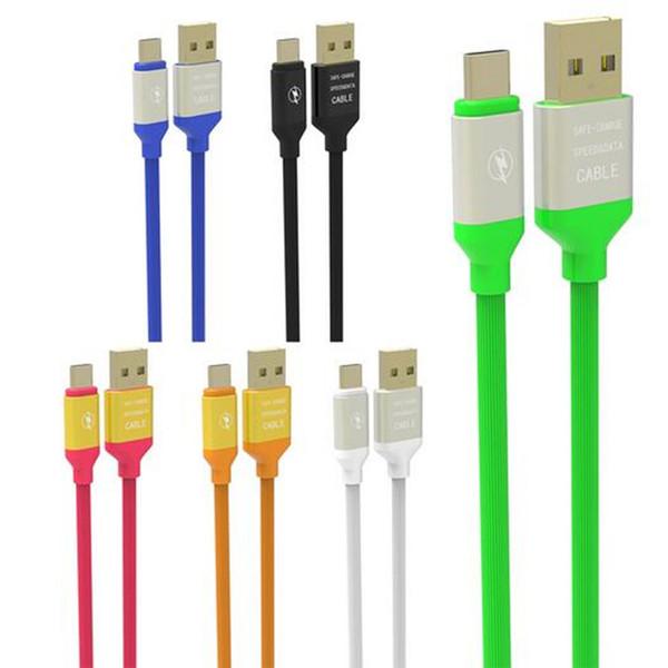 1.2 M elastik mikro Hızlı şarj Alüminyum Alaşım C Tipi-C usb veri şarj kablosu samsung s6 s7 s8 s9 s9 artı