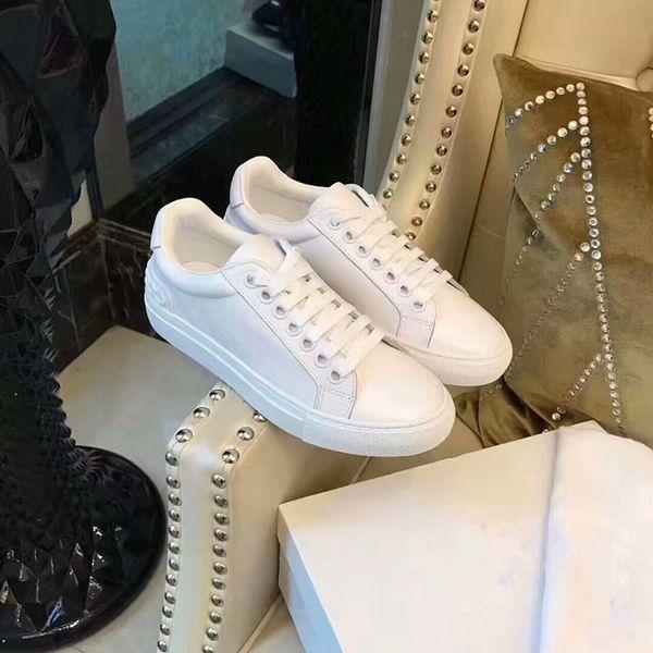 Diseñador de moda de lujo Sneaker Hombre Mujer Zapatos casuales Malla de cuero genuino Punta puntiaguda Zapatos de corredor de carrera Zapatillas de deporte al aire libre ys180301
