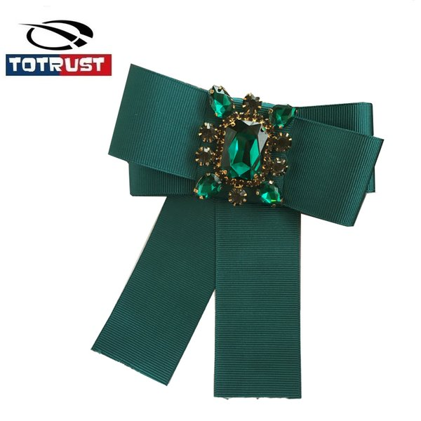 Green Neck Tie For Women Uniform 2017 Pin Necktie Party Gravatas Fashion Diamond Bowties Butterfly Tie Gifts For Ladies Girls