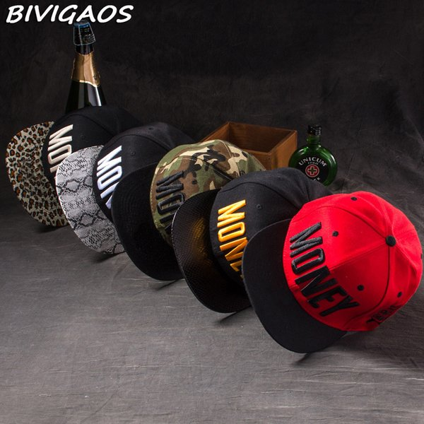 New Fashion Men Womens Casual Snapback Hats Swag MONEY Letters 3D Embroidery Hip Hop Cap Baseball Caps Bone Gorras For Men Women