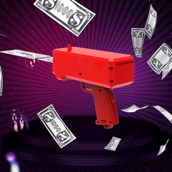 Cash Money Gun Cannon Money bb guns Decompression Bills Fashion Party Gift Game Christmas Red Funny Pistol kid toys