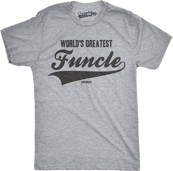 Mens Worlds Greatest Funcle Funny Fun Uncle Family Relationship T Shirt Loose Cotton T Shirts For Men Cool Tops Tee Plus Size
