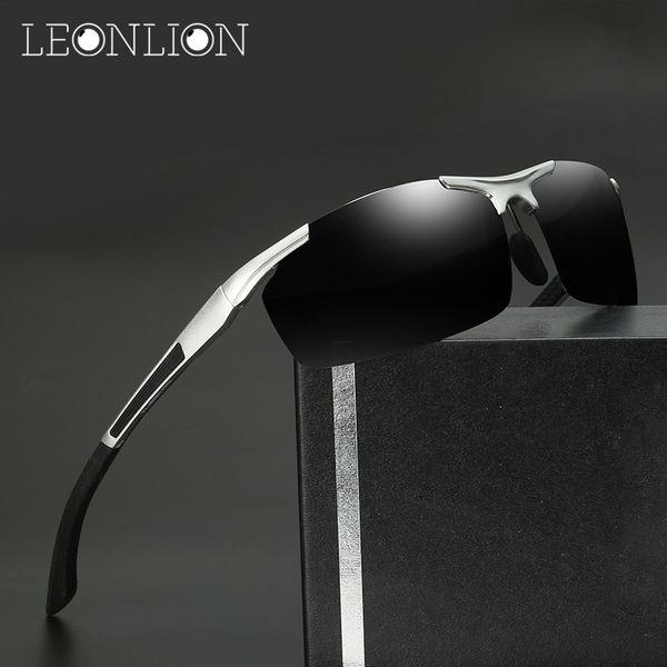LeonLion 2018 Designer Aluminium Magnesium Polarized Sunglasses Men Classic Oculos De Sol Gafas Metal Outdoor Glasses For Men