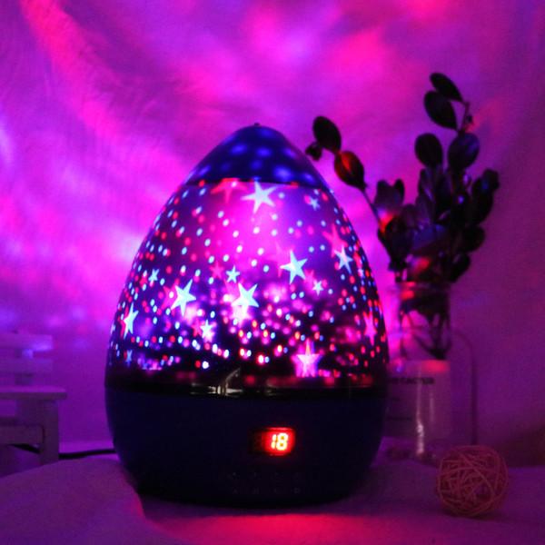 Star projection lamp stars moon colorful rotating USB lights color diamond star projector LED night light
