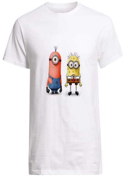Despicable ME Spongebbo And Patrick Minion Parody Shirt Top Tees Hot 2018 Summer Men'S T Shirt Fashion 100% Cotton For Man Tee Clever T Shirts Best