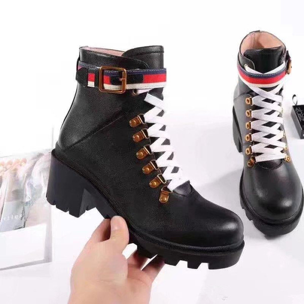Autumn British Women Boots Round Toe Martin Boots Buckle Strap Chunky Heel Round Toes Fashion Brand Ankle Boots Ladies Knight Booties