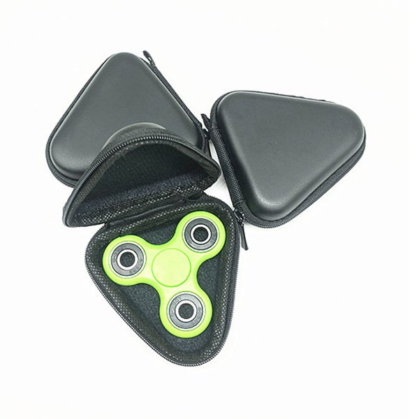 Triangle Shape Black Storage Case Pouch for Fidget Spinner Toys Bluetooth Headset Storage Bags Container Portable Cases Hot Sale