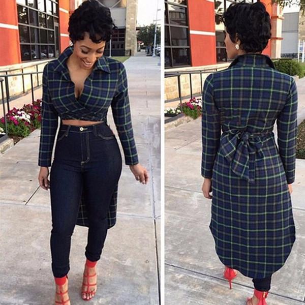 Single Breasted Asymmetrische Länge Damen Trenchcoats Slim Full Sleeve Designer Mäntel und Jacken Cute Bohemian Women Tops