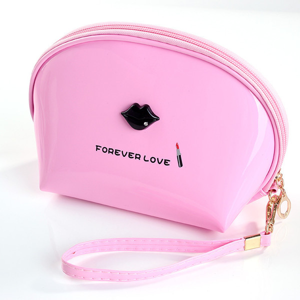 Factory direct marketing makeup bag large capacity waterproof portable wash bag hand-held makeup semicircle bag