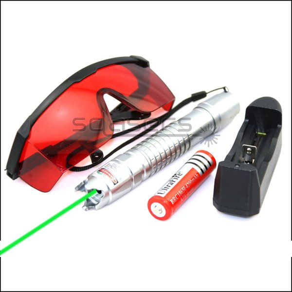 SDLasers GQ8-0100 532nm Green Laser Pointer With 1*18650 Li Battery & Charger & Goggles Work Teaching Training