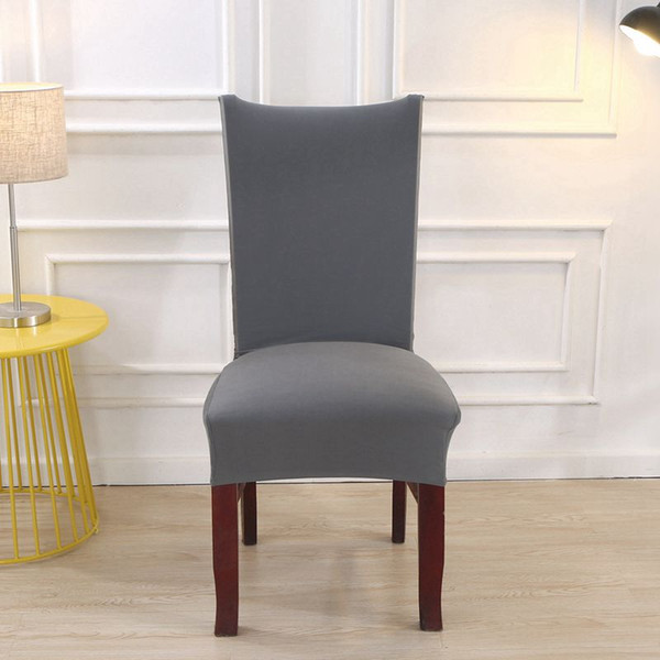 Spandex Stretch Solid Dining Chair Coves Elastic Seat Chair Covers Painting Slipcovers Restaurant Banquet Hotel Home Decoration
