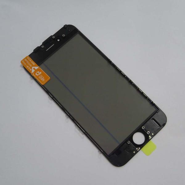 JIUTU 4 EN 1 Lente de vidrio frontal, OCA, polarizador, prensa en frío MARCO DE MARCO preinstalado con Earmesh para iPhone 6plus / 6s