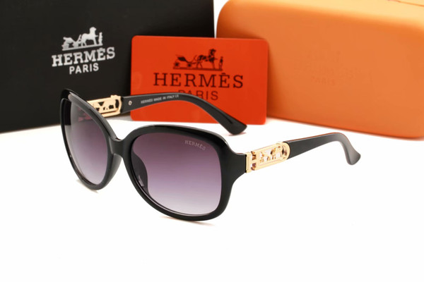 Бесплатная доставка Популярные UV400 моды для мужчин Солнцезащитные очки Женщины Стиль Full Frame Высокое качество УФ-солнцезащитные очки Защита с коробкой и чехол