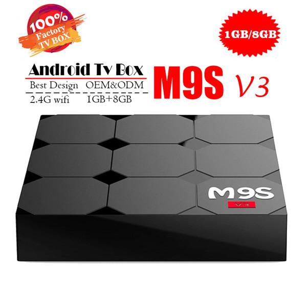 MXQ PRO MXQ-4K M9S V5 V3 X9 K3 RK3229 Android Tv Kutusu Quad Core 1G 8G Android 7.1 Streaming Media Player Desteği Wifi Akıllı Ott Set Üstü kutu