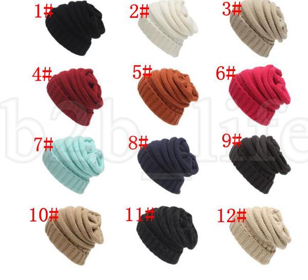 Compre es Moda Unisex Caliente Baggy Beanie Knit Crochet Hat Chica ...
