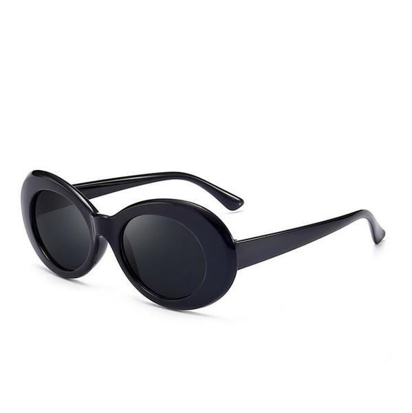 ce6d7f71f Óculos de proteção NIRVANA Kurt Cobain Óculos Clássico Retro Vintage Branco  Preto Oval Óculos De Sol