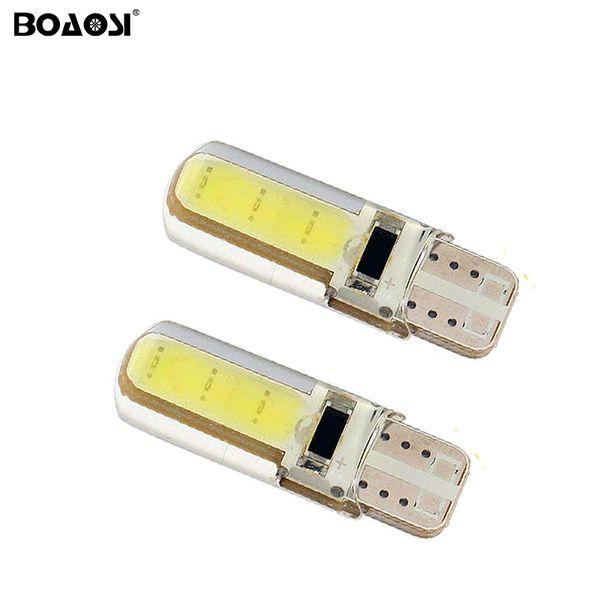 Новый T10 LED COB Клин маркер лампы W5W автомобильные лампы Canbus нет ошибка светодиодные парковка 12 в 194 501 T10 LED автомобилей боковой свет