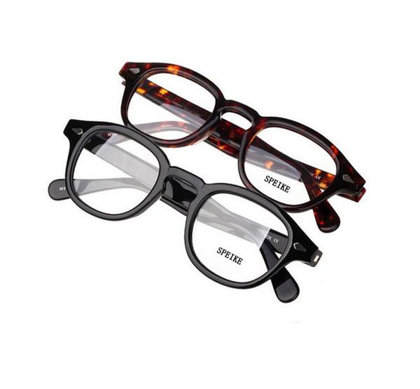 SPEIKE Customized New Fashion Lemtosh Johnny Depp style eyeglasses high quality Vintage round frames Customized myopia reading lenses