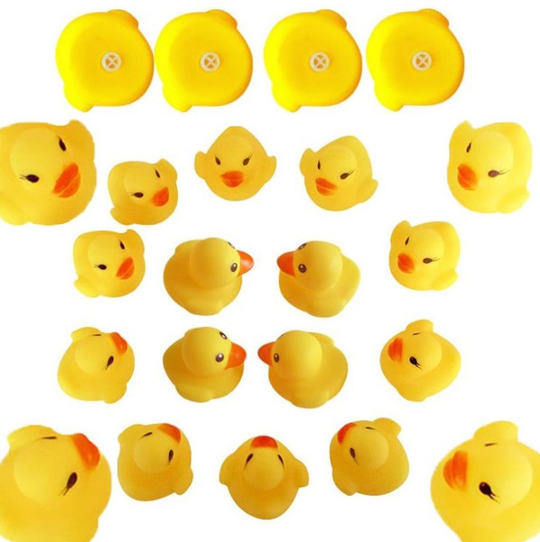 top popular New Baby Bath Toy Sound Rattle Children Infant Mini Rubber Duck Swimming Bathe Gifts Race Squeaky Duck Swimming Pool Fun Playing Toy I268 2020