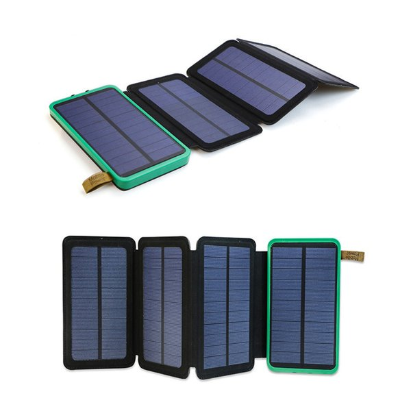 10000mAh Solar Power Bank Portable External Battery Solar Charger for iPhone iPad Samsung HTC LG Sony Nokia Huawei.