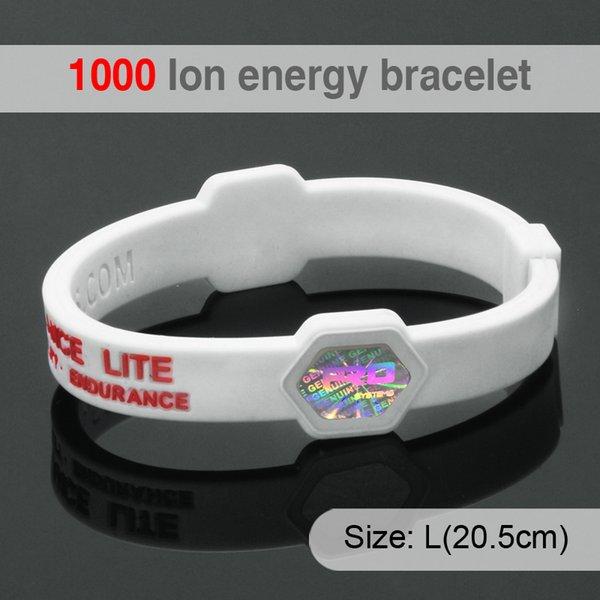 PICCOLA RANA Braccialetti con braccialetti con ologramma per energia energetica Braccialetti in silicone per terapia magnetica agli ioni di equilibrio