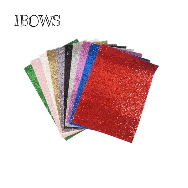 best selling 10pieces pack 22CM*30CM Glitter Fabric Material For Christmas DIY Hair Bow Chunky Glitter Leather Party Wedding Decoration