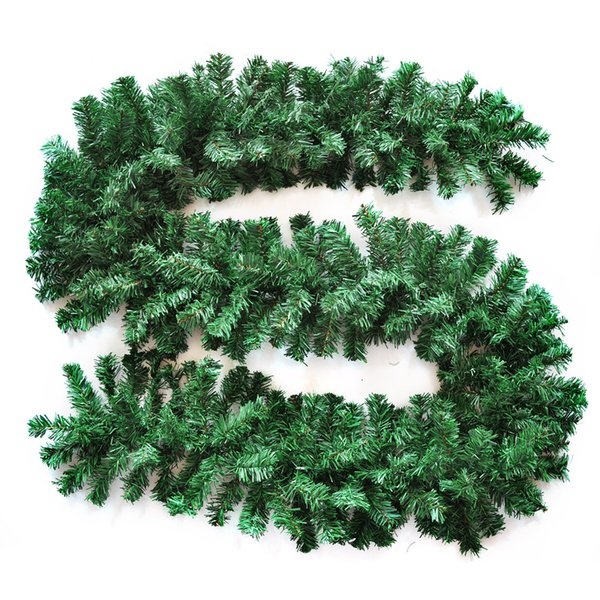 """Green S-shaped Christmas Rattan 106.30"""" (270cm) Xmas Decor Pendant For Home Door Hanging Party Wedding Supplies CRT003"""