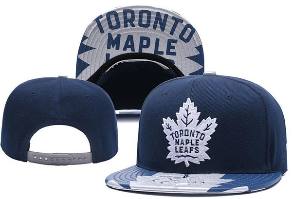 top popular New Caps Toronto Maple Leafs Hockey Snapback Hats Blue Color Cap Team Hats Mix Match Order All Caps Top Quality Hat 2021