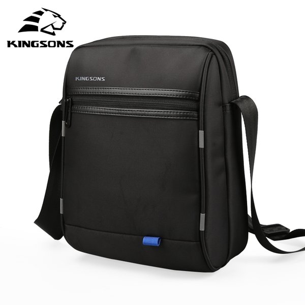 Kingsons marca 10.1 polegada homens de negócios mensageiro sacos de ombro ocasional masculino crossbody pequeno ipad titular bolso hombre 2018
