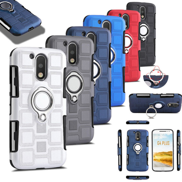 For iPhone X Xs Max Xr 8 7 Plus Samsung S9 S8 Heavy Duty Shockproof Finger Ring Rotating Case Cover