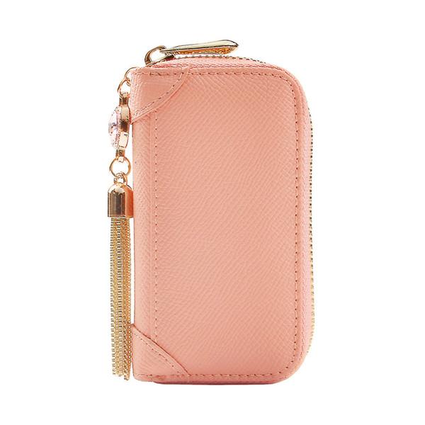 ZORESS Genuine Leather Wallet Sweet graceful jewels Key HolderZipper Key Case Bag Women Pouch Housekeeper Keys 3 Color