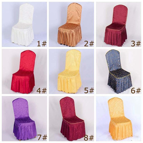 Excellent New Polyester Chair Covers For Wedding Party Banquet Hotel Living Room Dining Furniture High Chair Seat Cover 9 Styles White Dining Room Chair Covers Pdpeps Interior Chair Design Pdpepsorg