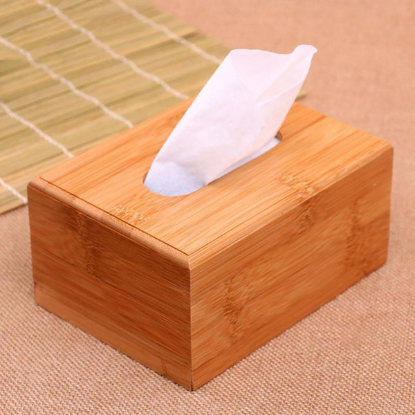 Bamboo Wooden Tissue Box Paper Dispenser container case Home Car Office Napkins Storage Holder Accessories 40