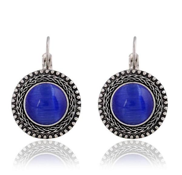 2018 Fashion Boho Big Drop Earrings For Women Jewelry Brinco Carved Vintage Tibetan Silver Bohemian Long Earrings