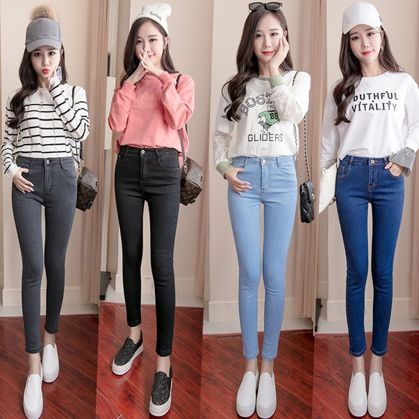 173a1655d4cba Plus Size High Waist Stretch Washed Jeans Woman Denim Pants Befree Trousers  For Women Pencil Skinny