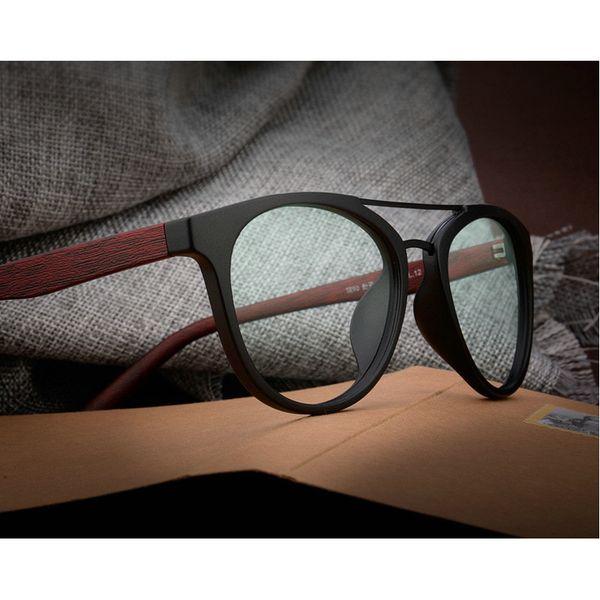 MINCL / 2018 Mode Acetat Holz Optische Gläser Rahmen Druck Brillen Rahmen Männer Frauen Markendesigner Klare Linse Sonnenbrille lxl