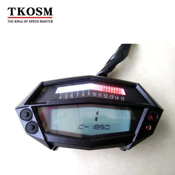 TKOSM Tacómetro de la motocicleta Medidor de horas Velocímetro digital Tndicator Piezas de la motocicleta Retroiluminación blanca 1-6 Engranajes para Kawasaki Z1000