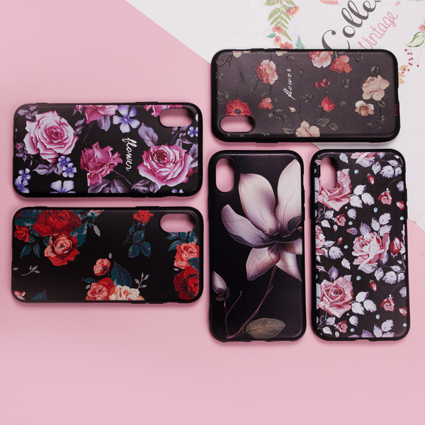 for iPhone 6 6s Phone Case Soft Case Simple Design Flower Rose Beautiful Fashion Phone Shell for iPhone 7 8 X