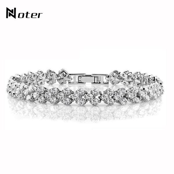 Luxury Crystal Bracelet For Women Girls Fashion Casual Jewelry Charm Gold Silver Color Roman Zirconia Braclet Pulseira Feminina