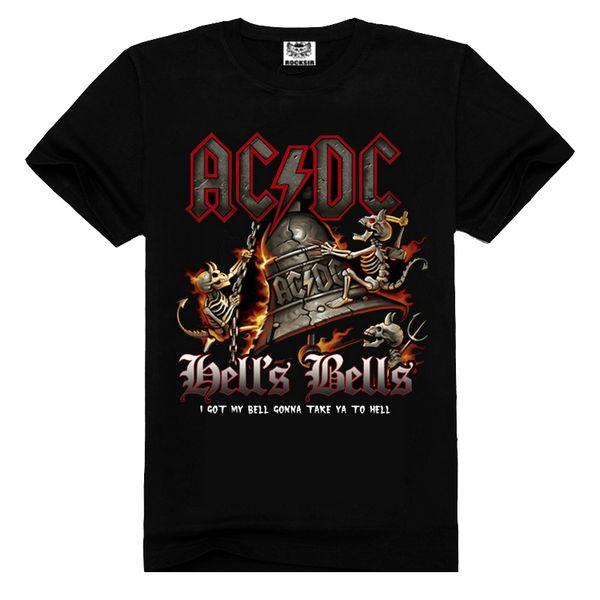 Hot sale 2015 Rock t shirt printing summer t shirt for men High quality AC DC t shirt Tees XXXL Vintage Rock Tshirt