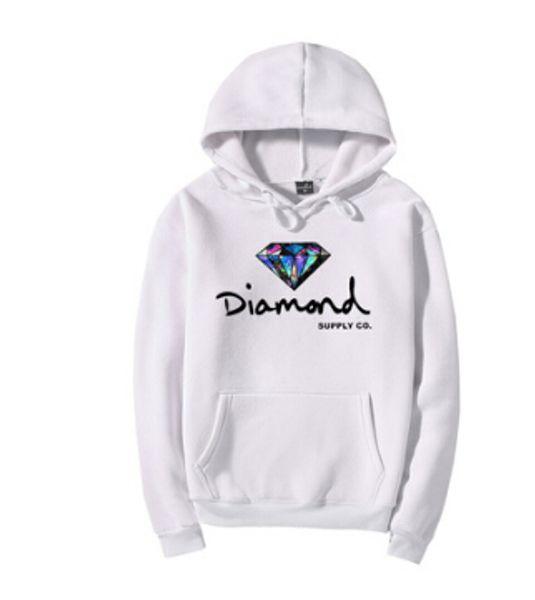 Fleece grueso sudaderas con capucha de invierno de los hombres de suministro de diamantes impresos jerseys con capucha caliente casual tops de manga larga otoño primavera ropa