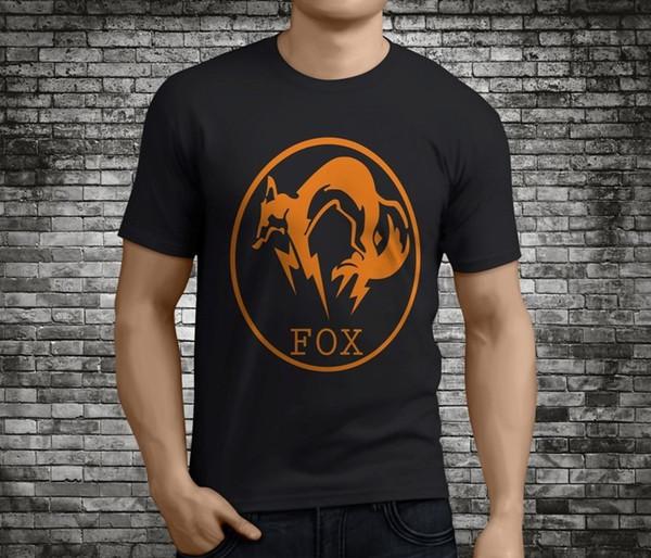 Nuevo vestido de verano de primavera Foxhound informal Fox Hound Metal Gear Solid negro de cuello redondo manga corta camiseta impresa