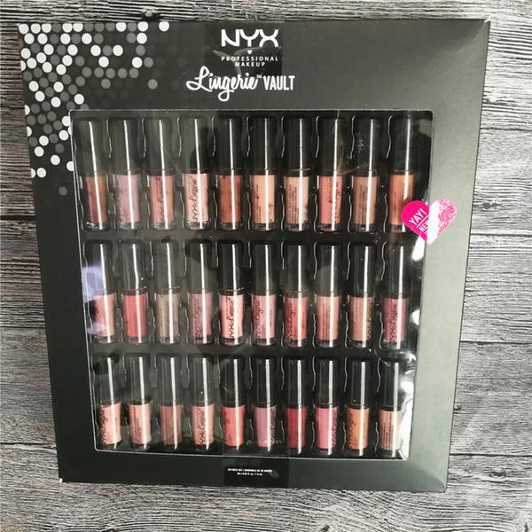 Nyx lingerie vault oft matte lip tick lip glo 30pc et ofe velvet lip makeup 30 color et meet the metallic vault