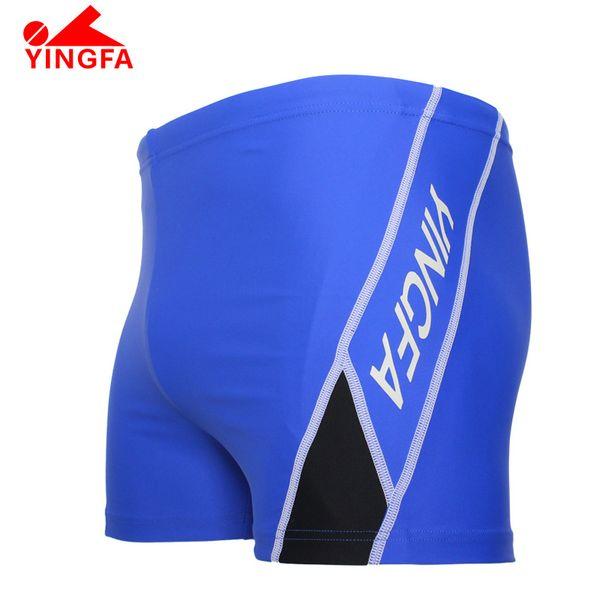 YINGFA FINA Mens swimming trunks boy's Professional Racing Competition Sexy Swimsuit sharkskin swim trunks Train swimsuit