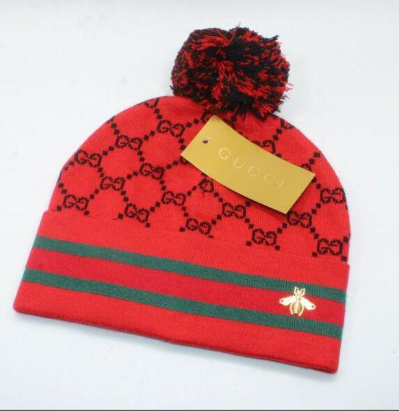 Compre 2019unisex Trendy Hats Invierno Piel De Punto Poms Beanie ...