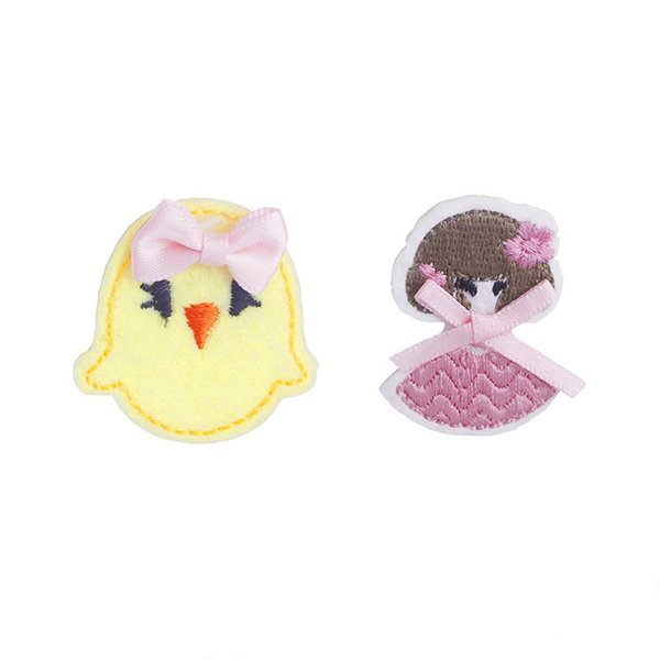 pretty girl pins rosette Chicks brooches beautiful cute dancing girl lapel pin badge bow-knot party pin Embroidery Cloth style