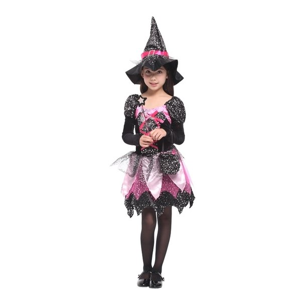 scary halloween costume for kids witch costumes party cosplay girls Carnival princess children child fancy dress Hat christmas