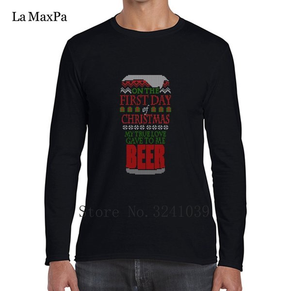 Beer Christmas Sweater.Printed Order New Beer Christmas Sweater Tee Shirts Funny Casual Super Men T Shirt Winter Style Cotton Simple Male T Shirt Cheap Rude Tshirts