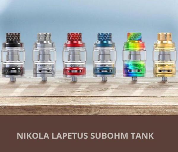 Original Nikola Lapetus Sub Ohm Tank 4.5ML Capacity with Lapetus 0.18ohm mesh Coil Top fill and Bottom Airflow Design