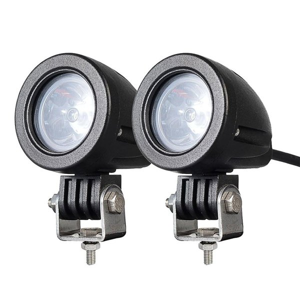 2PCS 10W MINI Motorcycle Fog Driving Lights LED Spot Beam POD Work Auxiliary Lamp Offroad Truck Dirt Bike Jeep Wrangler ATV SUV 12V 24V